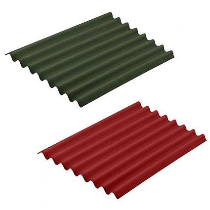 Lámina de cobertura Easyline de 100 x 76 cm, ondulada e impermeable,