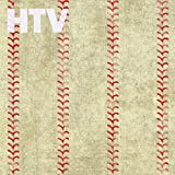 Baseball Skin Pattern HTV, 12' x 12' Printed Heat Transfer Vinyl, SCO2001