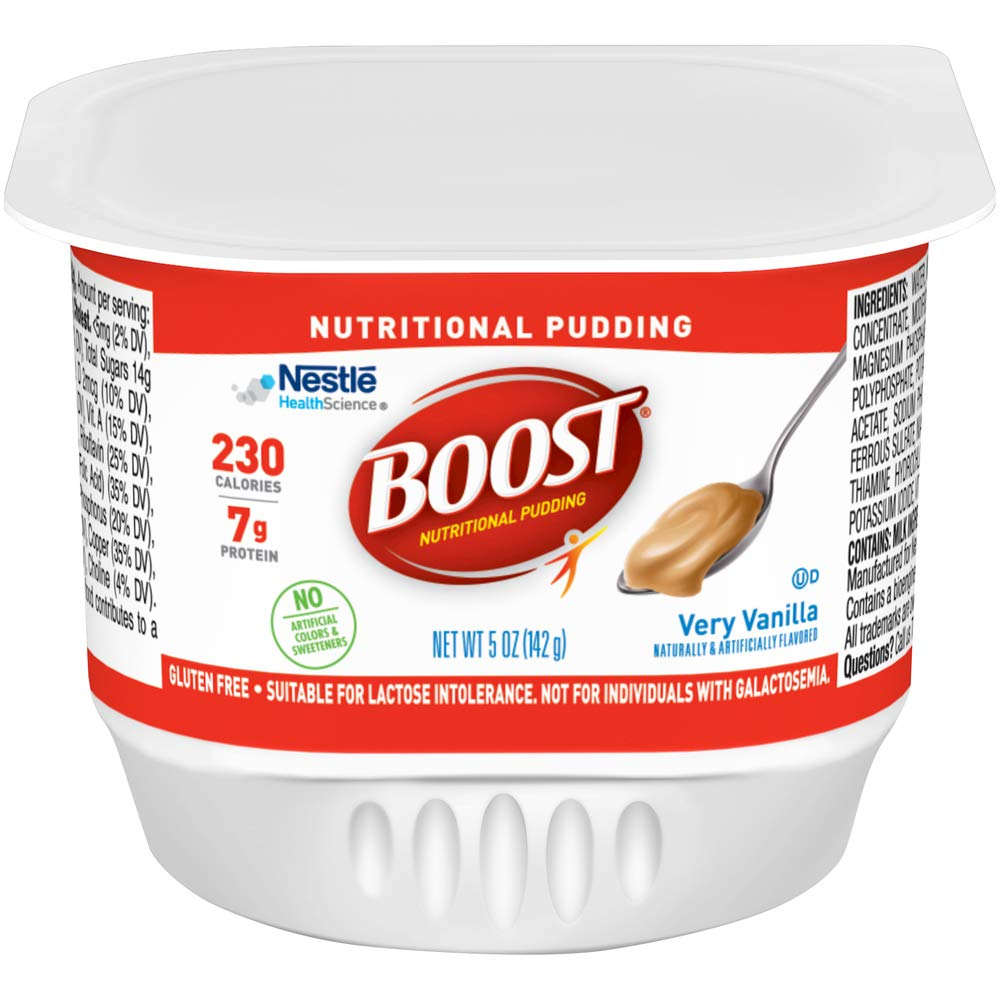 Boost Nutritional Pudding, Vanilla, 5 Ounce Cups (Pack of 48) 61PdmsTGvPL