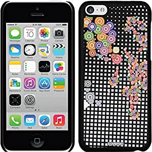fashion case iphone 6 plus Black Thinshield Snap-On Case with Crazy Circles White Design