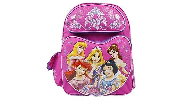 Full Size Pink and Purple Princesa de Disney Mochila - Princesa de Disney Bolso p/ Libros: Amazon.es: Juguetes y juegos