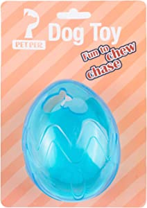 Petper CW-0011 Pet Cats & Dogs Treat Ball, Toy for Increases IQ Interactive Food Dispensing Ball, TPR Chew Ball, Blue