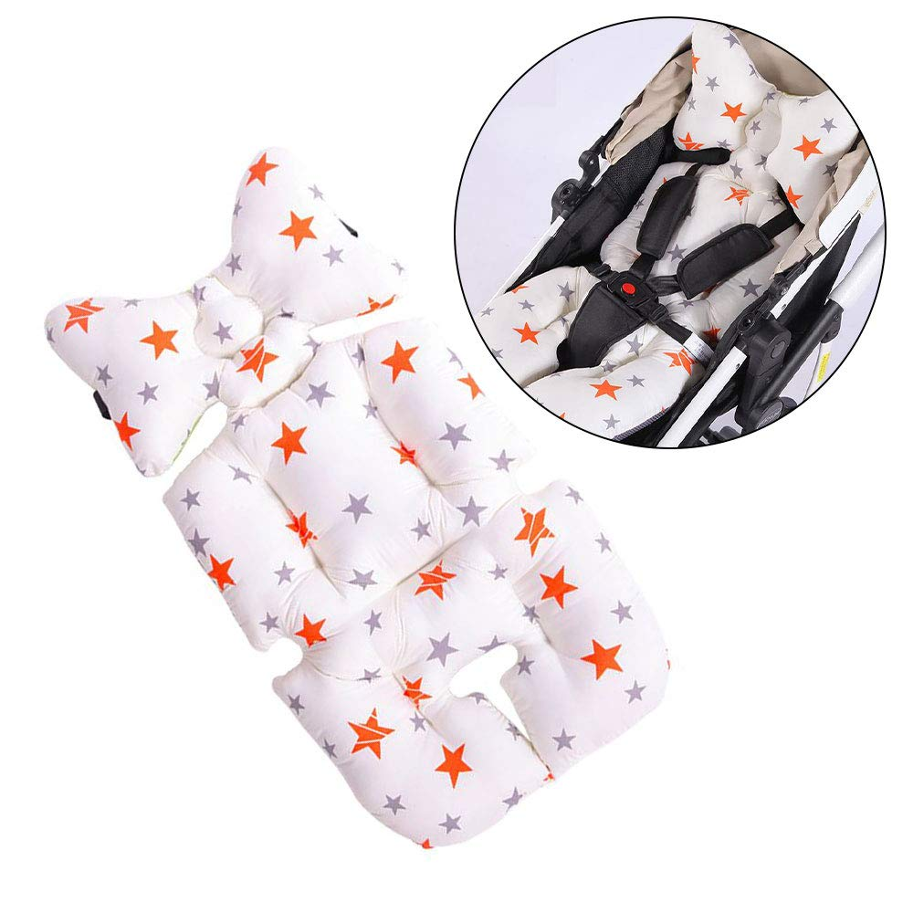 Stroller Pad,Twoworld Air Mesh Stroller Liner Head and Body Support Pillow for Stroller & Car Seat (Star) by Twoworld