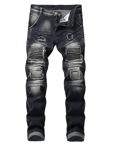 Amazon.com: Pantalones vaqueros para motociclista de InSFITY ...