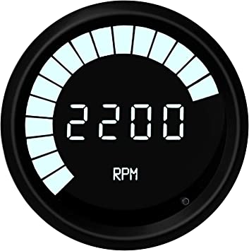Intellitronix White LED Digital Speedometer