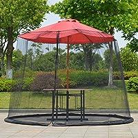 gshhd0 Patio Insecto Red para Cenador – Exterior Jardín Sombrilla Mesa Pantalla Parasol Mosquito Red Funda - Blanco, One Size: Amazon.es: Jardín