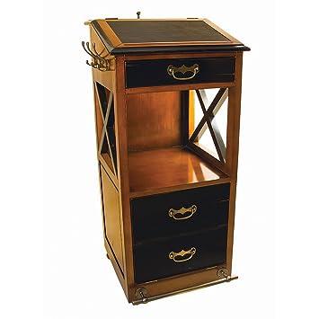 Valet De Chambre Rolling Cabinet Desk 48u0026quot; Nautical Storage Furniture