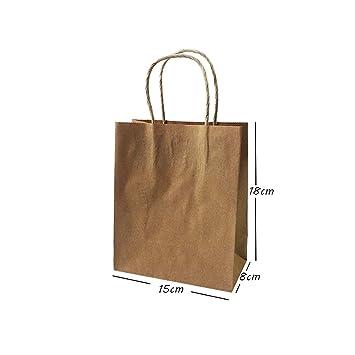 Amazon.com: JEWH Big Kraft Paper Bag with Handles ...