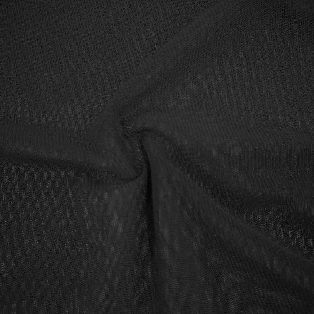 Daoope T-Shirt Donna Manica Lunga,Donna Clubwear Sheer Manica Pura Mesh Puro See-Through Top Tee Camicetta