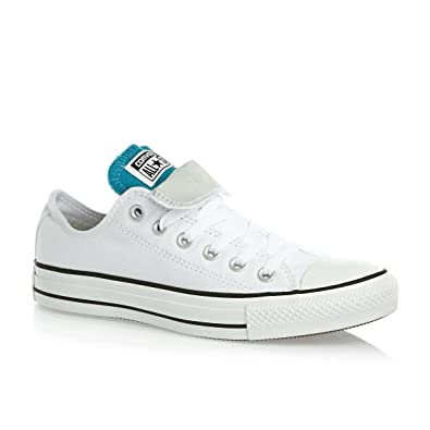 83bd22f57839 Converse Chuck Taylor All Star Double Tongue Ox Shoes - White Cloud  Grey Enamelblue