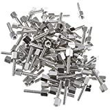 CableWholesale Hex Nut Jack Screw, 100 Pieces, 4-40, 17.08mm