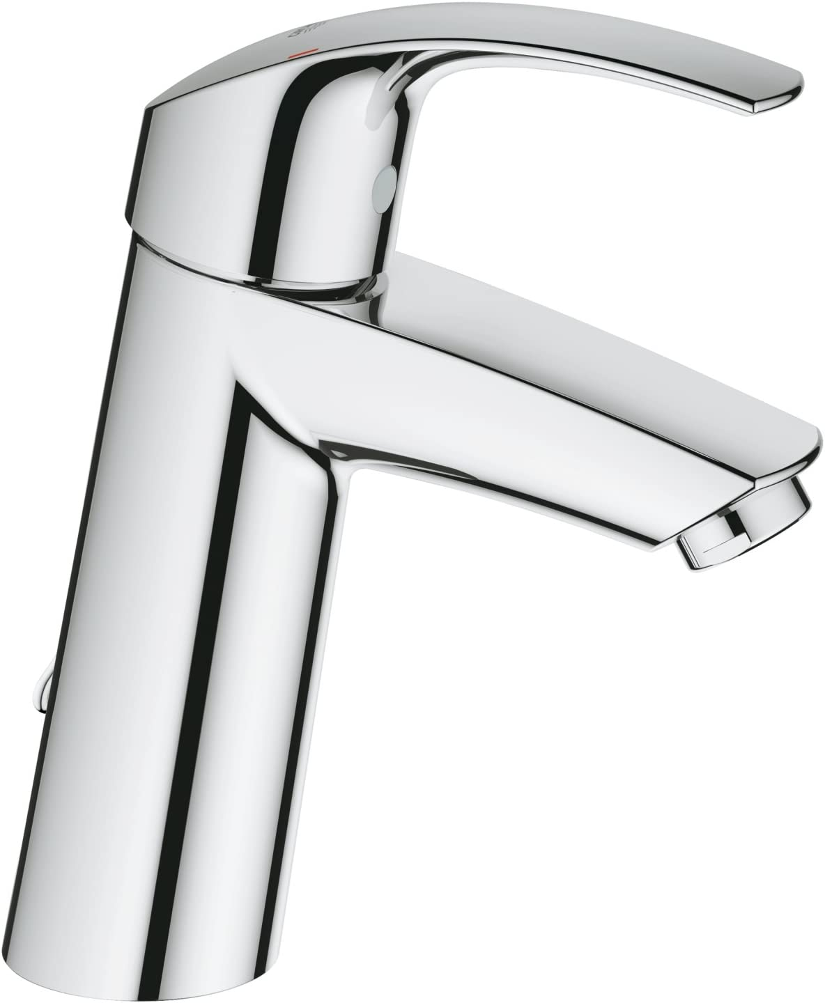 GROHE 23323001 Eurosmart Basin Tap with Retractable Chain Medium High Spout .