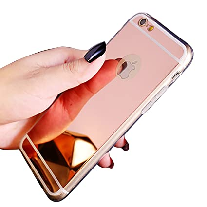 cheap for discount 6f475 c911b Iphone 7/8 PLUS Mirror Case, Save4you Luxury Clear Back Mirror  Shock-absorption TPU Bumper Case Anti-scratch Bright Reflection Protective  Case Cover ...