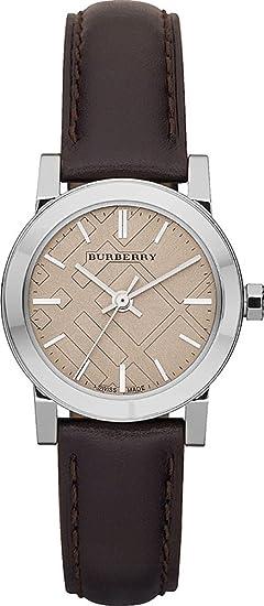 Burberry BU9208 - Reloj Suizo para Mujer (Piel auténtica, Esfera Color Crema), Color marrón: BURBERRY: Amazon.es: Relojes
