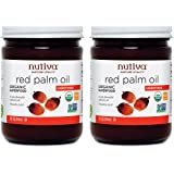 Nutiva USDA Certified Organic, non-GMO, Cold-Filtered, Unrefined, Fair Trade Ecuadorian Red Palm Oil, 15-ounce (Pack of 2)