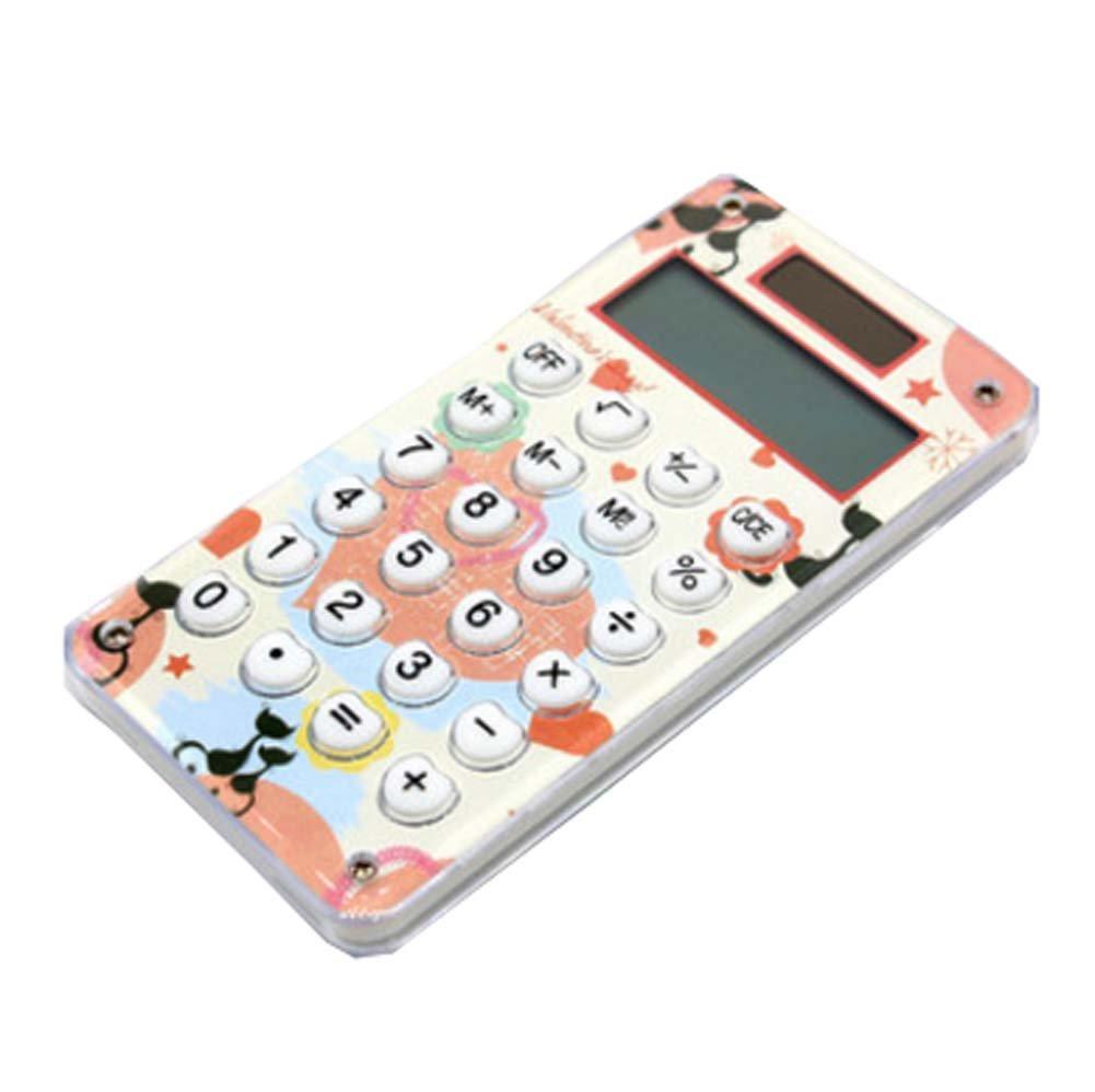 2PCS 8 Digits Ultra Thin Slim Credit Card Solar Power Pocket Calculator White