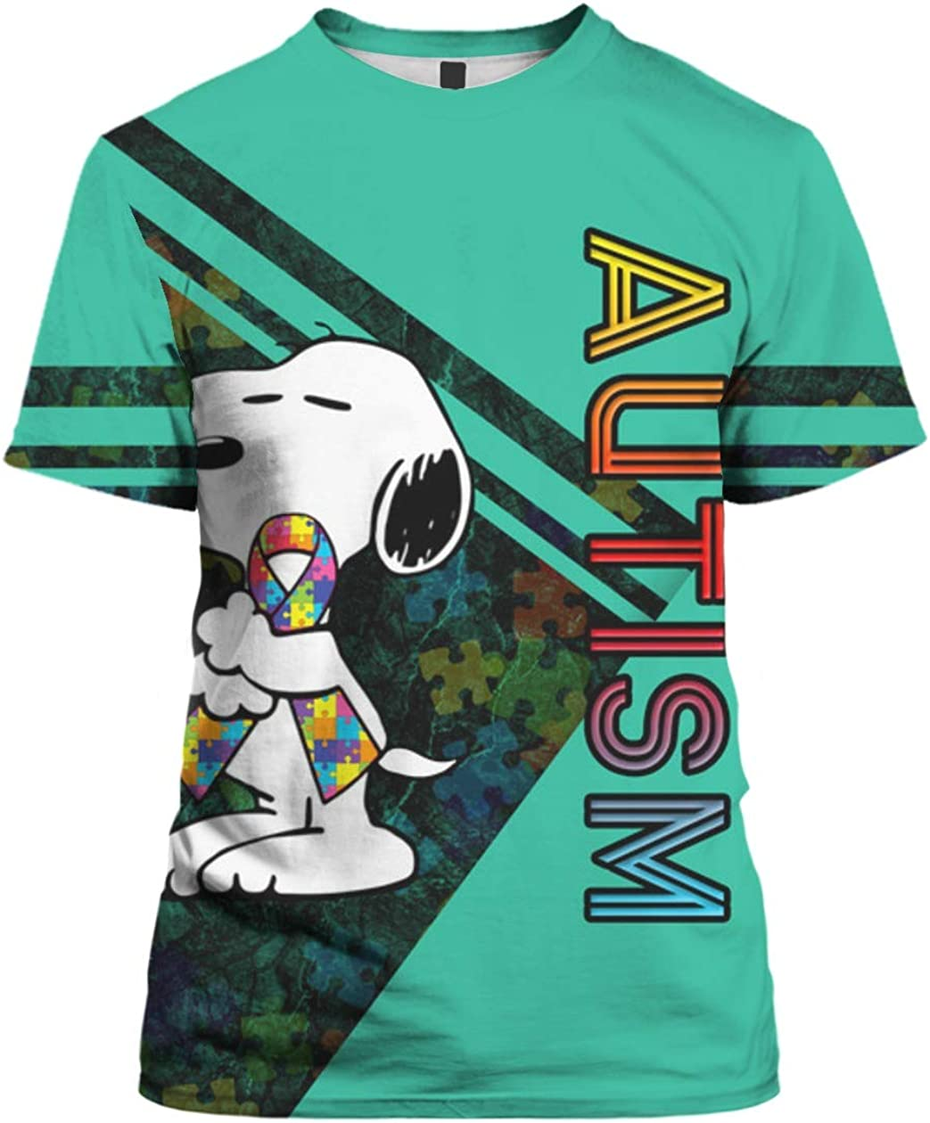 Autism Awareness Snoopy 3D All Over Sublimation Printing Shirt
