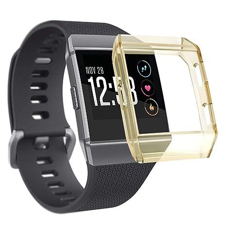 Naomo Compatible avec pour Coque Fitbit Ionic,TPU Ultra Mince Couverture Étui de Protection pour Montre Connectée Fitbit Ionic (Jaune): Amazon.fr: High-tech