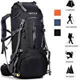 ONEPACK 50L(45+5) Hiking Backpack Travel Daypack Waterproof Backpack Outdoor Sports Daypack with Rain Cover for Climbing Camping Mountaineering Fishing Traveling Cycling Skiing
