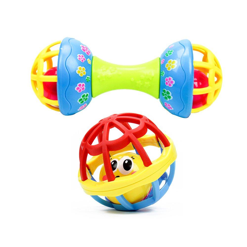Children Babys Pliable Ball Grasping Ball Bell Exquisite Ball Educational Toys