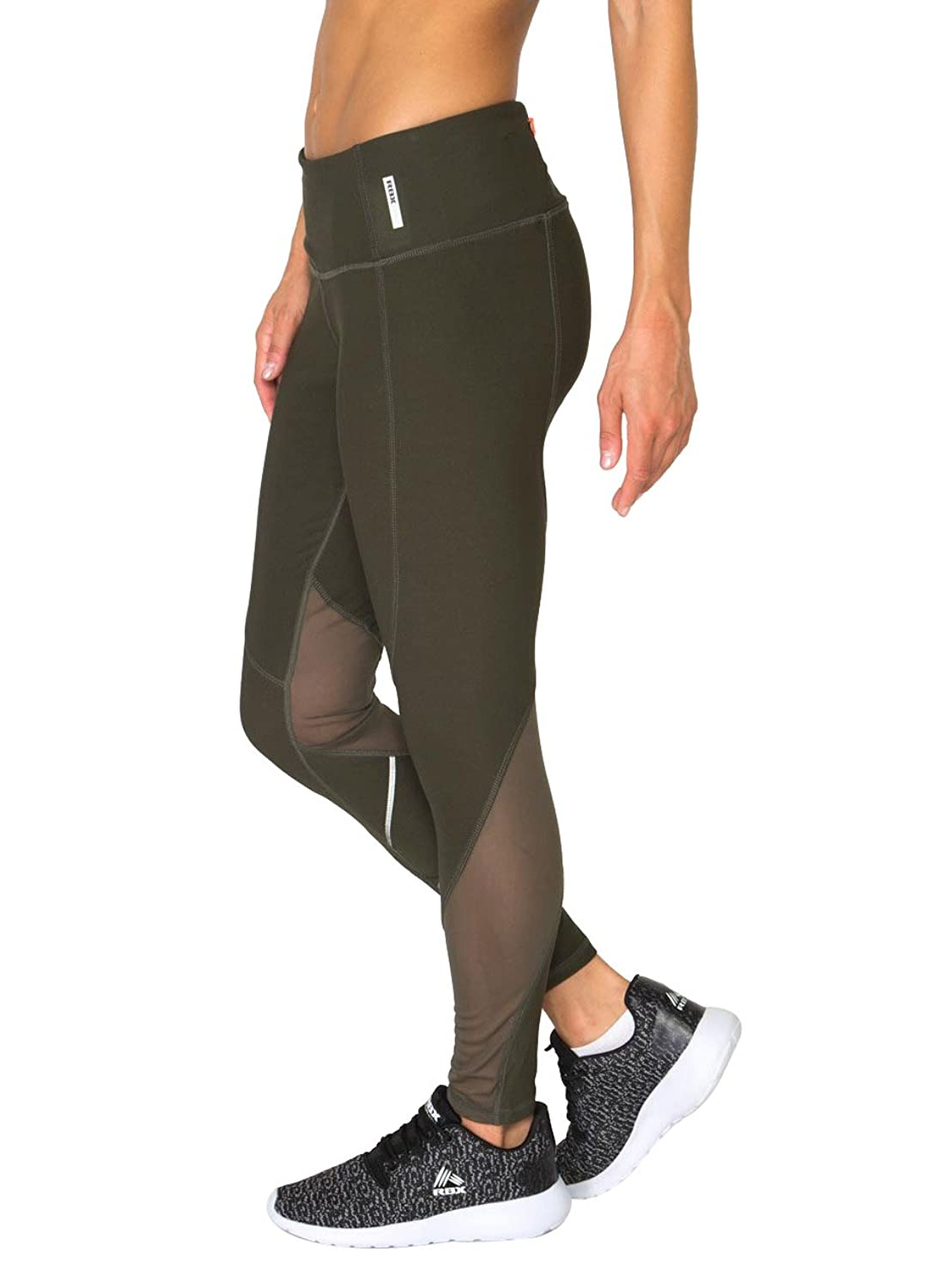 RBX Active Women's Spliced Legging with Mesh and Reflective Tape