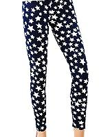 LOCOMO Women Star Pattern Footless Legging Skinny Slim S-M FFT014