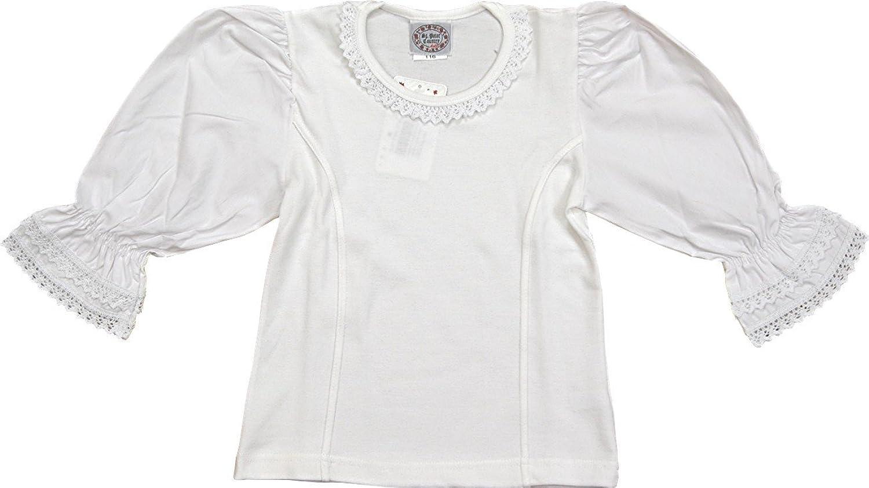 Mädchen Stretch Trachten Bluse Nele, mit Spitze