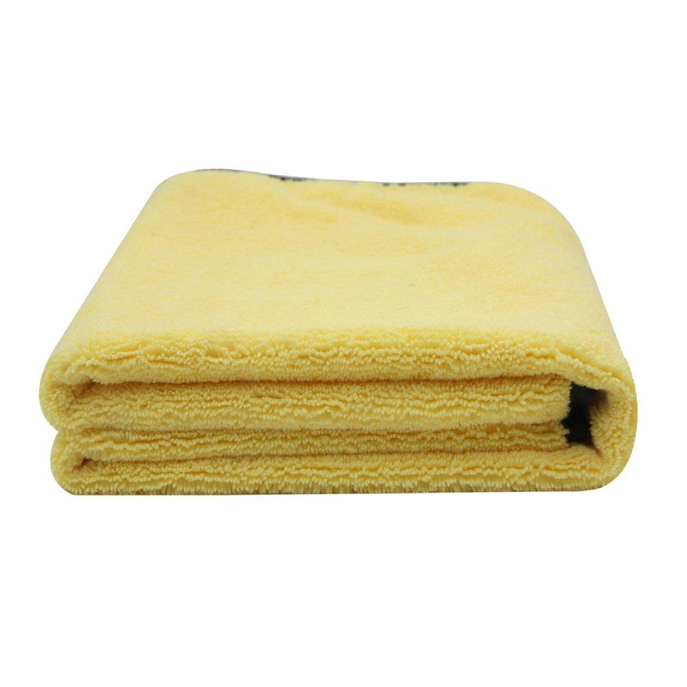 KKmoon Grandi Dimensioni in Microfibra Auto Pulizia Asciugamano Panno Multifunzionale Wash Lavaggio Asciugatura Panni 92 * 56cm Giallo