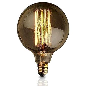 Vintage Edison E27 60w edison Alambre recto Bulbo grande bombilla G125 retro bombillas decorativas