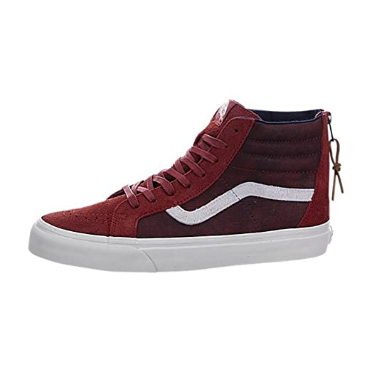 Sk8-Hi Reissue Zip DX Varsity Red Mens Size 8 Leather & Suede Fashion Skateboarding Shoes