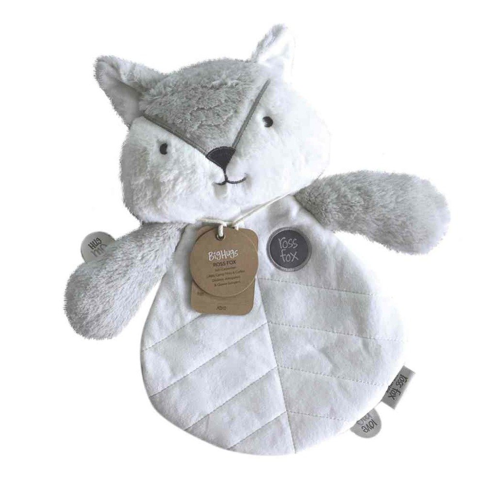 OB Designs Ross Fox Comforter Blanket Soft Plush Toy Medium Grey by OB Designs