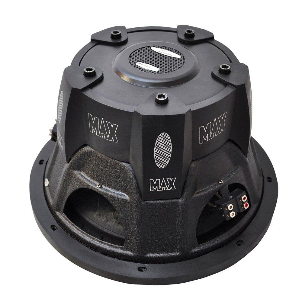 Lanzar 12in Car Subwoofer Speaker Black Non Pressed Audiopipe Wiring Diagram Paper Cone Stamped Steel Basket Dual 4 Ohm Impedance 1600 Watt Power And Foam Edge