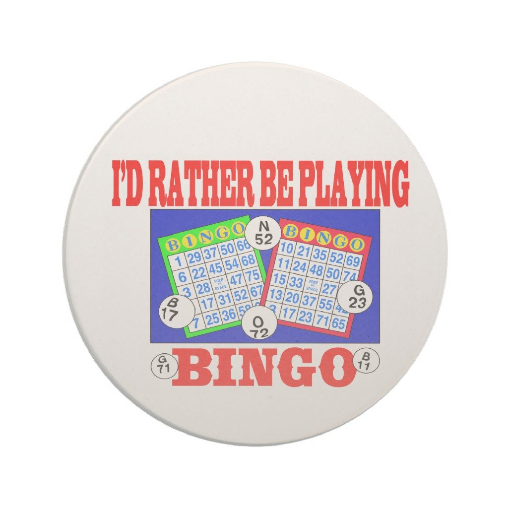 Zazzle I'd Rather Be Playing Bingo! Drink Coaster by Zazzle
