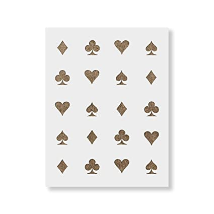 Magnificent Hearts Clubs Diamonds Spades Stencil Template Reusable Pattern Stencil With Multiple Sizes Available Beutiful Home Inspiration Aditmahrainfo