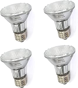 PAR20 50 Watt E26 Medium Base Halogen Flood Light Bulbs,Dimmable Bulbs for Range Hood Lights,Ceiling Fan,Table Light