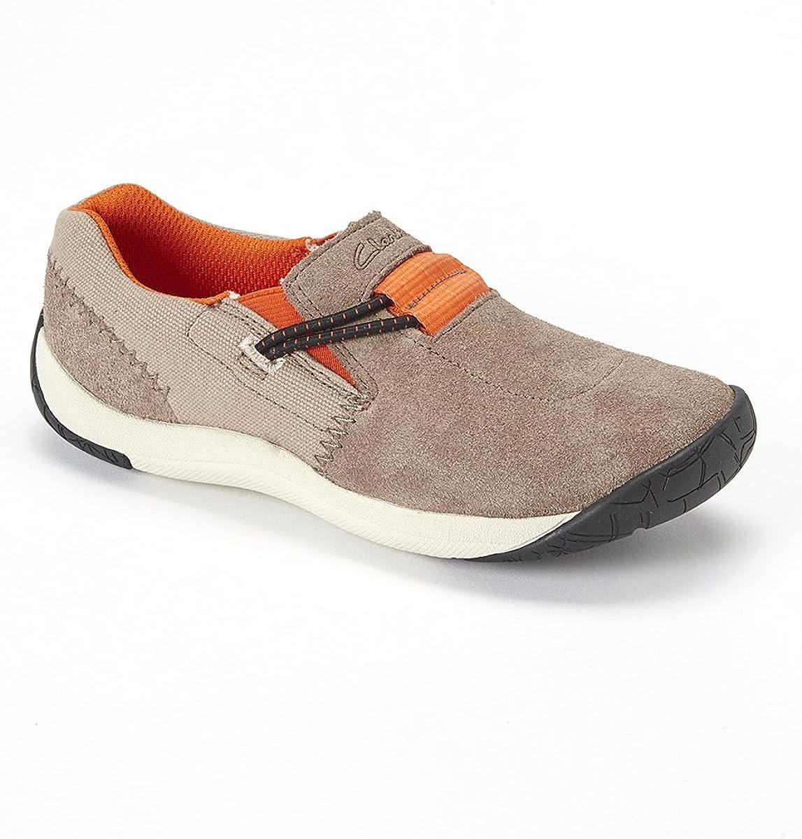 María espiritual pureza  Clarks Brown Tay Fun J Leather Slip-on Sneaker 26100320 Us Size 4w:  Amazon.co.uk: Shoes & Bags