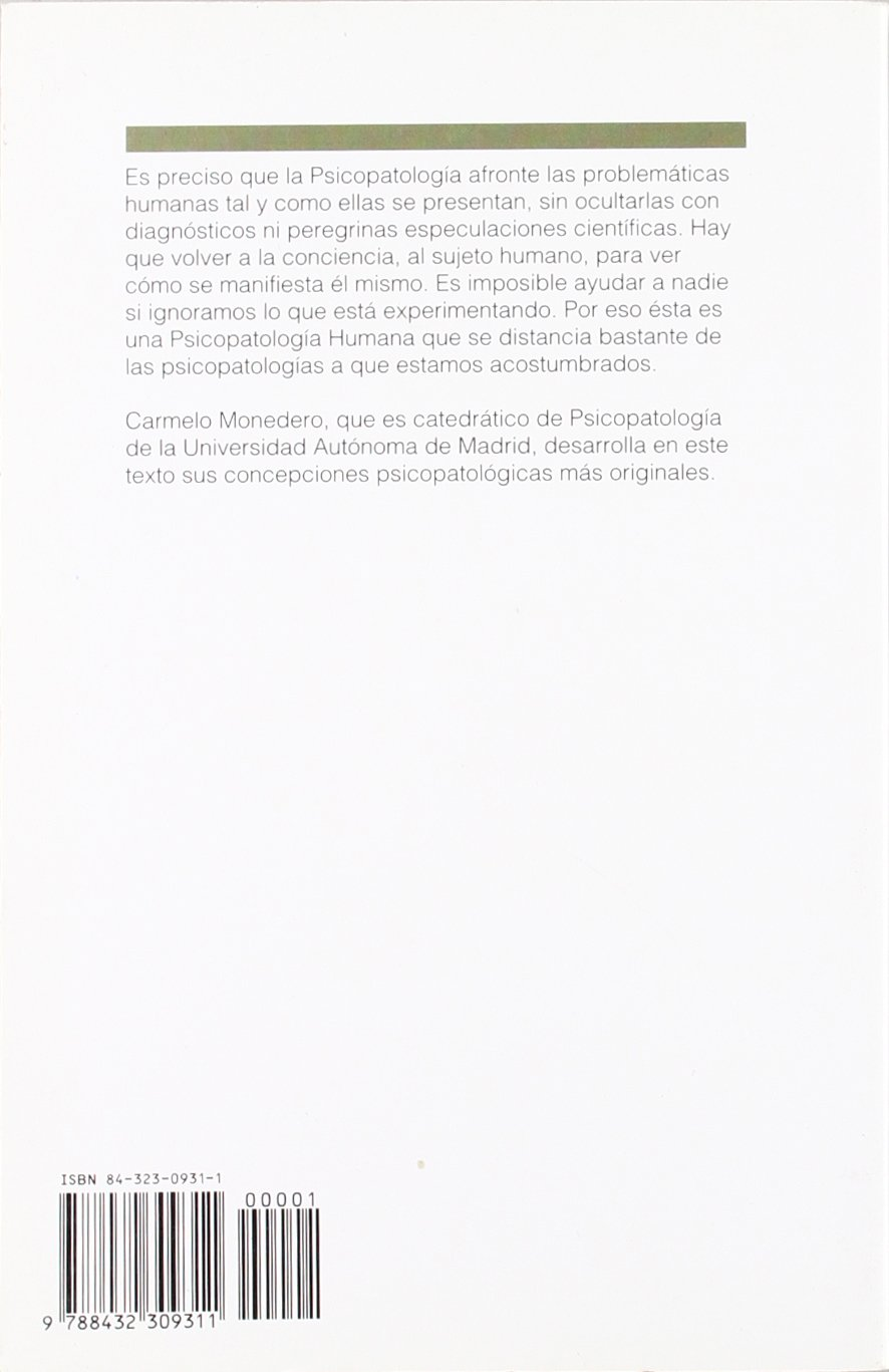 Psicopatologia humana (Spanish Edition): C. Monedero ...