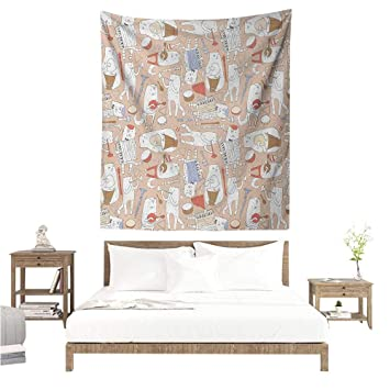 Amazon.com: Music Tapestry for Living Room Cartoon Musician ...