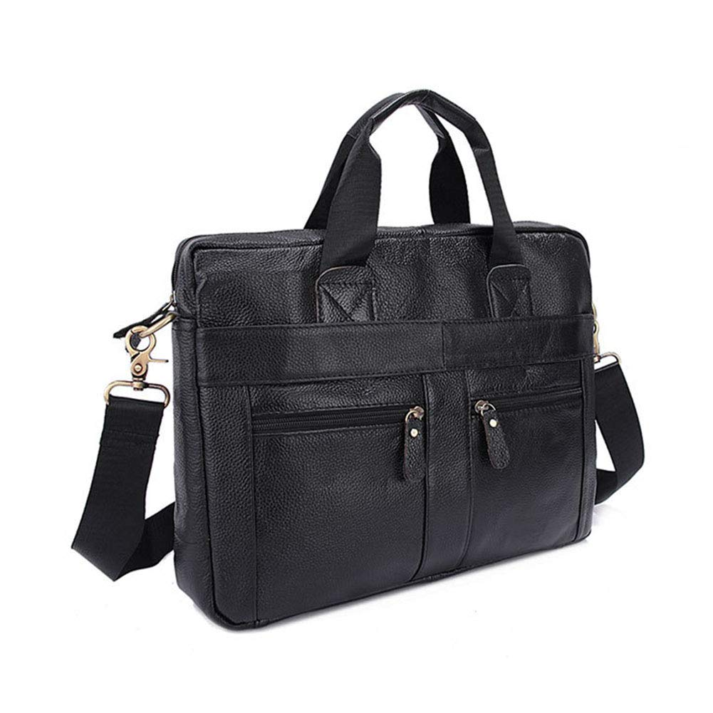 Xinyuan Mens Briefcase Leather Handbag Crossbody Bag Mens Leisure Business Bag Black Coffee Color : A