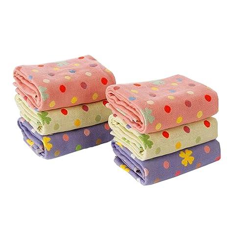 6pcs Lovely toallas de algodón toalla de cara toalla de mano para baño, toallas de
