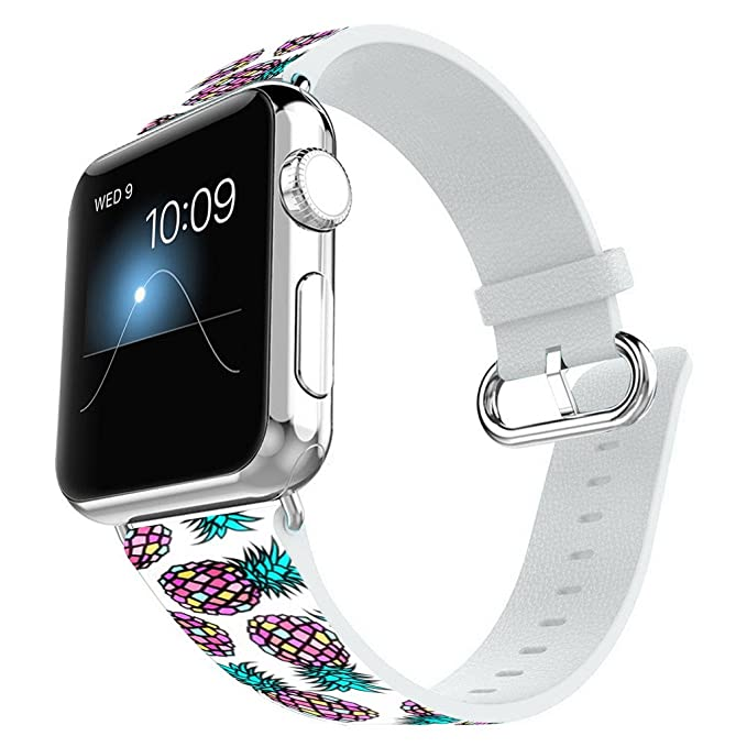 Amazon.com  Apple Watch Band 38MM 100% Leather + Stainless Steel ... ca8021249