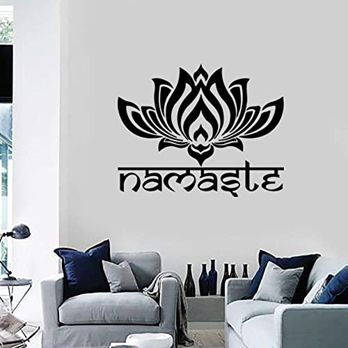 Amazon.com: Namaste Wall Decal Quote Lotus Flower Vinyl ...