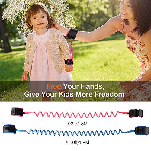 Anti Lost Wrist Link Zooawa Child Outdoor Safety Hook and Loop 2 Pack