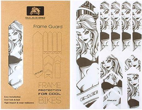 Kitabetty Autocollantes para Bicicletas, Protector De Cuadro De ...