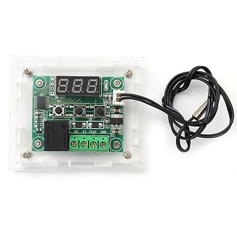 because0 F DC 12 V W1209 Digital frío calor Temp termostato controlador de temperatura termómetro