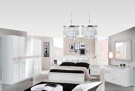 Armadio Design Camera Da Letto.Lignemeuble Glamour Laccato Bianco Per Camera Da Letto Design Set
