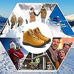 Axcone Homme Femme Chaussures Trekking Randonnée Bottes de Neige Hiver Imperméable Outdoor Boots Fourrure Cuir… 13