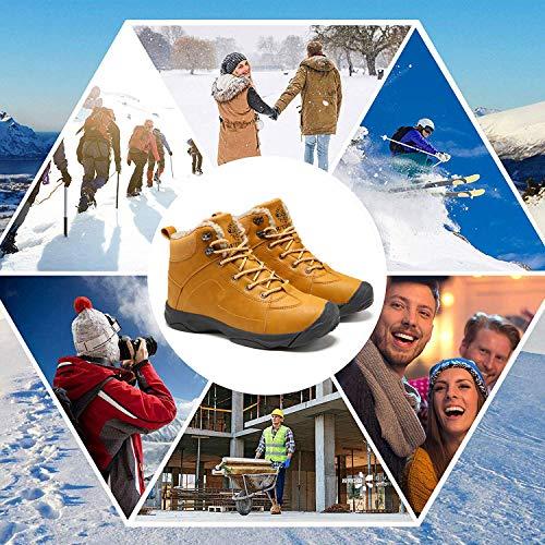 Axcone Homme Femme Chaussures Trekking Randonnée Bottes de Neige Hiver Imperméable Outdoor Boots Fourrure Cuir… 6