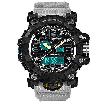 Scpink Reloj deportivo, reloj de pulsera casual ligero de lujo a prueba de agua electrónico