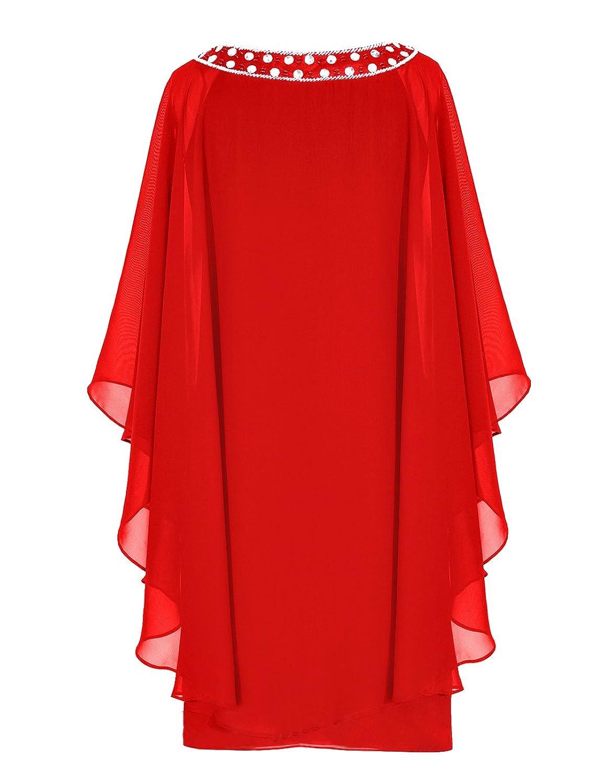 Dresstells? Scoop Chiffon Prom Dress with Beads Evening Party Dress